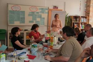 Im Berliner Stadtteil Wedding kamen Projekt-Verantwortliche aus acht Vereinen zusammen.